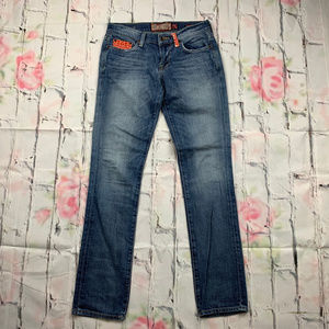 Lucky Sweet N Straight woven accent jeans A12